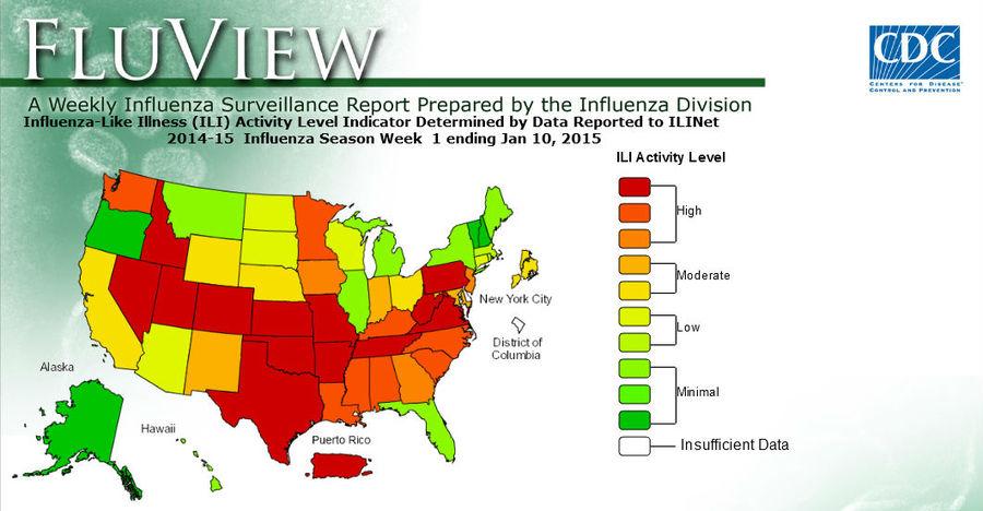 2015 Flu Map flu map 2015   Vessel Medical
